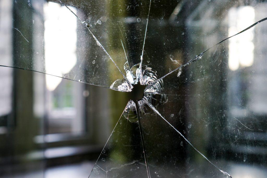 glass, broken, fragmented